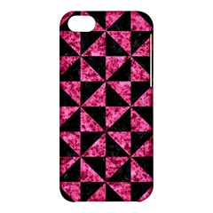Triangle1 Black Marble & Pink Marble Apple Iphone 5c Hardshell Case by trendistuff