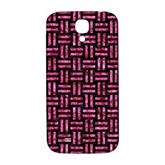 Woven1 Black Marble & Pink Marble Samsung Galaxy S4 I9500/i9505  Hardshell Back Case by trendistuff