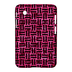 Woven1 Black Marble & Pink Marble (r) Samsung Galaxy Tab 2 (7 ) P3100 Hardshell Case  by trendistuff