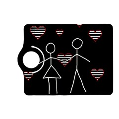Couple In Love Kindle Fire Hd (2013) Flip 360 Case by Valentinaart