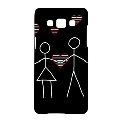 Couple in love Samsung Galaxy A5 Hardshell Case  by Valentinaart