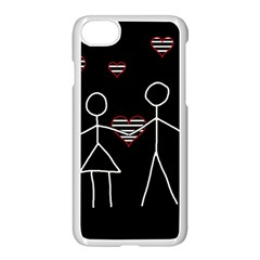 Couple in love Apple iPhone 7 Seamless Case (White) by Valentinaart