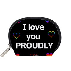 Proudly Love Accessory Pouches (small)  by Valentinaart