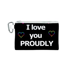Proudly Love Canvas Cosmetic Bag (s) by Valentinaart
