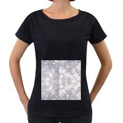 Light Circles, Rouge Aquarel Painting Women s Loose Fit T Shirt (black) by picsaspassion