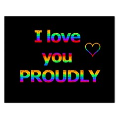 I Love You Proudly Rectangular Jigsaw Puzzl by Valentinaart