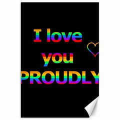 I love you proudly Canvas 20  x 30   by Valentinaart