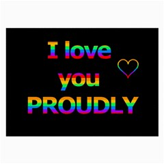 I Love You Proudly Large Glasses Cloth (2 Side) by Valentinaart