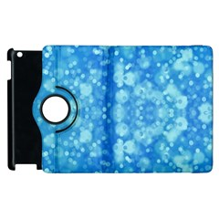 Light Circles, Dark And Light Blue Color Apple Ipad 2 Flip 360 Case by picsaspassion