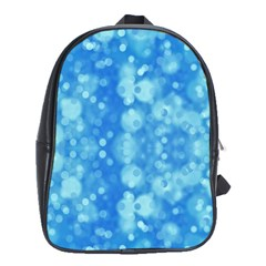Light Circles, Dark And Light Blue Color School Bags (xl)  by picsaspassion