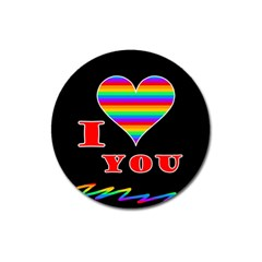 I Love You Magnet 3  (round) by Valentinaart
