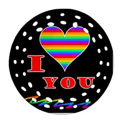 I Love You Round Filigree Ornament (2side) by Valentinaart