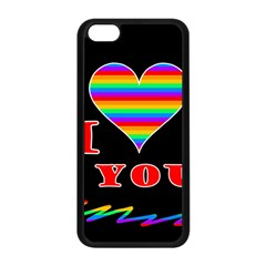 I Love You Apple Iphone 5c Seamless Case (black) by Valentinaart