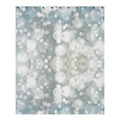 Light Circles, Blue Gray White Colors Shower Curtain 60  X 72  (medium)  by picsaspassion