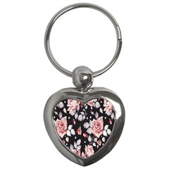 Vintage Flower Key Chains (heart)  by Brittlevirginclothing
