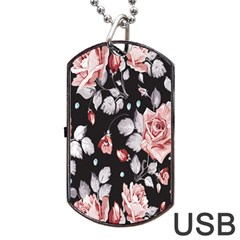 Vintage Flower Dog Tag Usb Flash (one Side) by Brittlevirginclothing