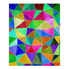 Triangles, Colorful Watercolor Art  Painting Shower Curtain 60  X 72  (medium)  by picsaspassion