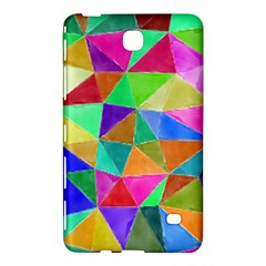 Triangles, Colorful Watercolor Art  Painting Samsung Galaxy Tab 4 (7 ) Hardshell Case  by picsaspassion