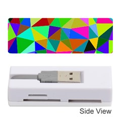 Colorful Triangles, oil painting art Memory Card Reader (Stick)  by picsaspassion
