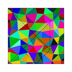 Colorful Triangles, Oil Painting Art Acrylic Tangram Puzzle (6  X 6 ) by picsaspassion