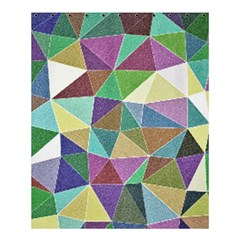 Colorful Triangles, Pencil Drawing Art Shower Curtain 60  X 72  (medium)  by picsaspassion