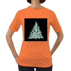 Christmas Fir, Green And Black Color Women s Dark T Shirt by picsaspassion