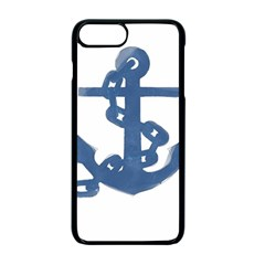 Blue Anchor,  Aquarel painting art Apple iPhone 7 Plus Seamless Case (Black)