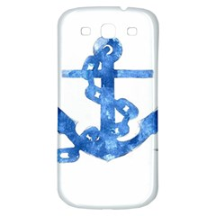 Anchor Aquarel Painting Art, Soft Blue Samsung Galaxy S3 S Iii Classic Hardshell Back Case by picsaspassion