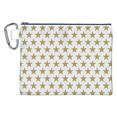 Golden Stars Pattern Canvas Cosmetic Bag (xxl) by picsaspassion