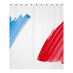 Tricolor Banner France Shower Curtain 60  X 72  (medium)  by picsaspassion
