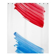 Tricolor Banner Watercolor Painting, Red Blue White Shower Curtain 60  X 72  (medium)  by picsaspassion
