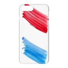 Tricolor banner watercolor painting, red blue white Apple iPhone 7 Plus Hardshell Case by picsaspassion