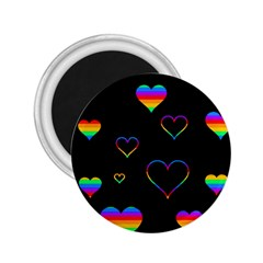 Rainbow harts 2.25  Magnets by Valentinaart