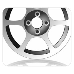 Car Wheel Chrome Rim Double Sided Flano Blanket (Small)  by Zeze