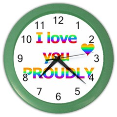 Proudly Love Color Wall Clocks by Valentinaart
