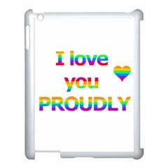 Proudly Love Apple Ipad 3/4 Case (white) by Valentinaart