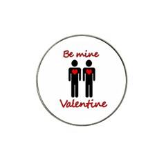Be Mine Valentine Hat Clip Ball Marker (4 Pack) by Valentinaart