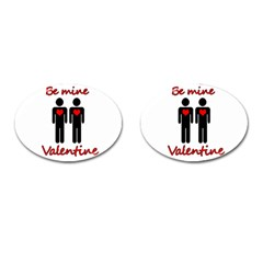 Be Mine Valentine Cufflinks (oval) by Valentinaart