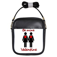 Be My Valentine 2 Girls Sling Bags by Valentinaart