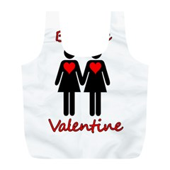 Be My Valentine 2 Full Print Recycle Bags (l)  by Valentinaart