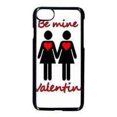Be My Valentine 2 Apple Iphone 7 Seamless Case (black) by Valentinaart