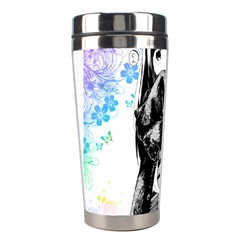 Shy Anime Girl Stainless Steel Travel Tumblers by Brittlevirginclothing
