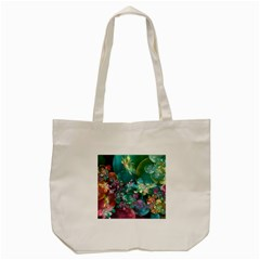 Butterflies, Bubbles, And Flowers Tote Bag (cream) by WolfepawFractals