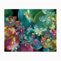 Butterflies, Bubbles, And Flowers Small Glasses Cloth by WolfepawFractals