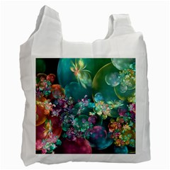 Butterflies, Bubbles, And Flowers Recycle Bag (one Side) by WolfepawFractals