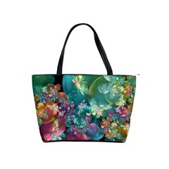 Butterflies, Bubbles, And Flowers Shoulder Handbags by WolfepawFractals