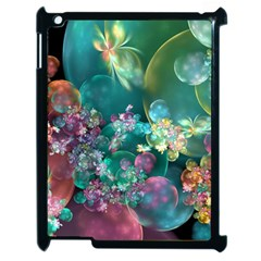 Butterflies, Bubbles, And Flowers Apple Ipad 2 Case (black) by WolfepawFractals
