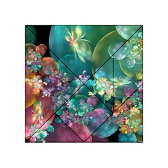 Butterflies, Bubbles, And Flowers Acrylic Tangram Puzzle (4  X 4 ) by WolfepawFractals