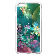 Butterflies, Bubbles, And Flowers Apple Iphone 6 Plus/6s Plus Enamel White Case by WolfepawFractals