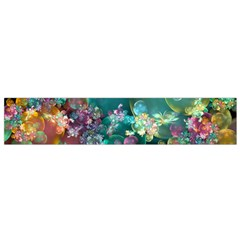 Butterflies, Bubbles, And Flowers Flano Scarf (small) by WolfepawFractals